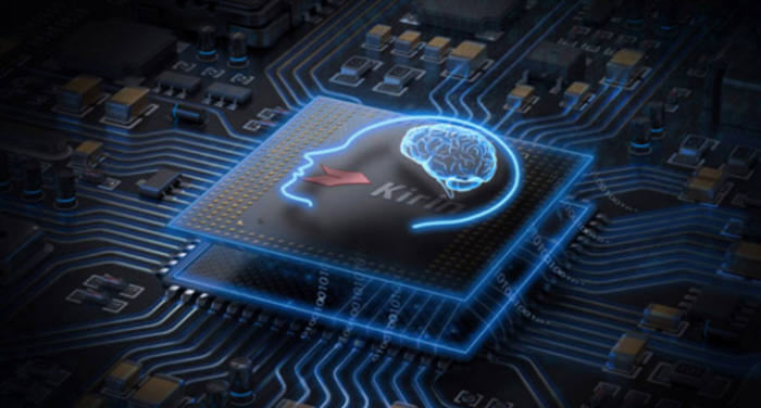 인공지능(AI) 기술을 적용한 화웨이 기린 칩셋.
