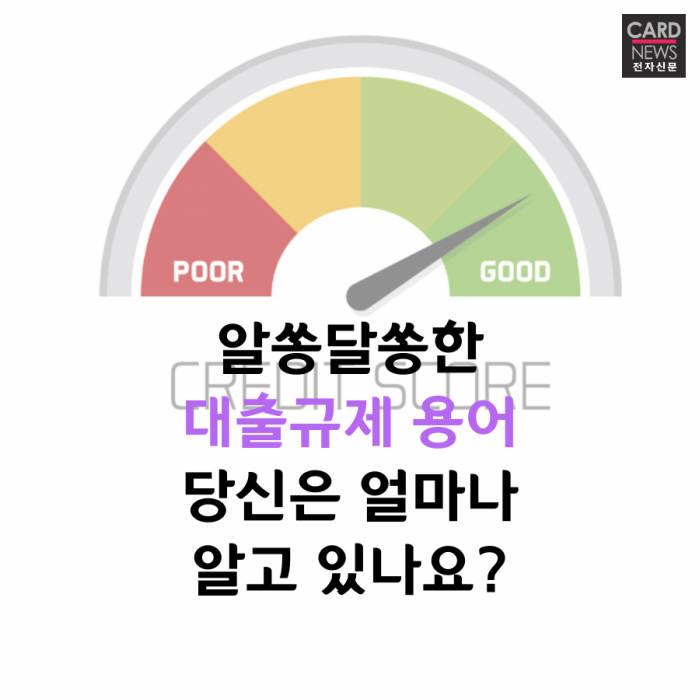 [카드뉴스]알쏭달쏭한 대출규제 용어