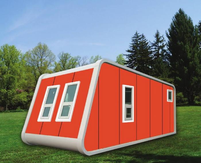 비에이에너지가 출시한 에너지 자립형 소형주택 '에너지홈(Energy_home)'.