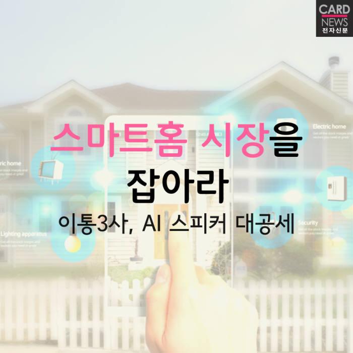 """[카드뉴스]이통사 """"스마트홈 시장을 잡아라"""""""