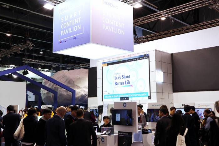 정보통신산업진흥원(NIPA)은 8개 업체와 MWC 2018을 찾았다.