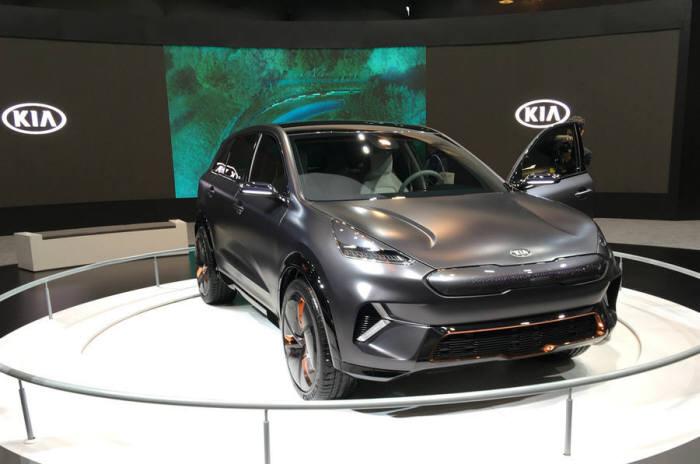 7월 국내 출시(인도기준) 예정인 기아차 '니로EV'. 양산형 모델은 아직 공개되지 않았다.