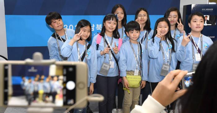 [2018 남북정상회담]통일부 어린이기자단, 우리도 기자랍니다