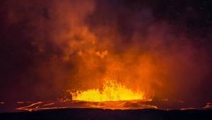 용암 분출한 하와이 '킬라우에아 화산'