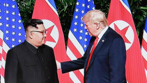 """'세기의 담판' 시작...트럼프 """"회담 엄청나게 성공할 것"""" 김정은 """"쉬운 길 아니었다"""""""