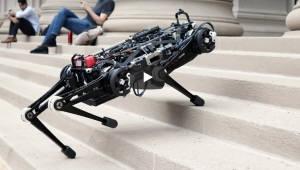 촉각으로 걷는 네 발 로봇 개발