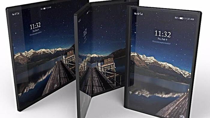 미국 정보기술(IT) 전문매체 매셔블이 공개한 폴더블폰 예상 렌더링 이미지.