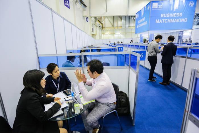 K-ICT 위크 인 부산의 국내외 바이어 초청 비즈니스 상담회.