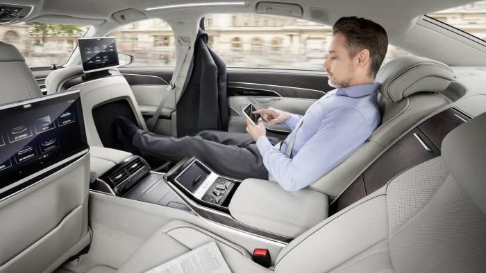 아우디 신형 A8 자율주행 구현 모습 (제공=아우디)