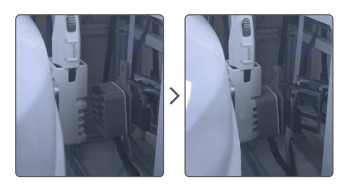 EVAR와 전기차 간 도킹하는 모습(동영상 캡처)