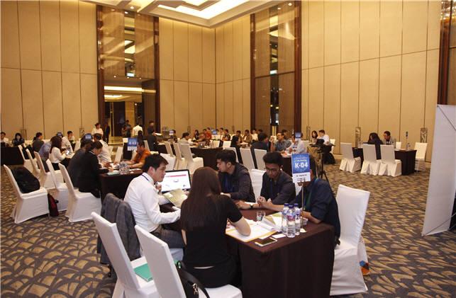 광주전남SW융합클러스터사업단의 인도네시아 수출상담회 모습.