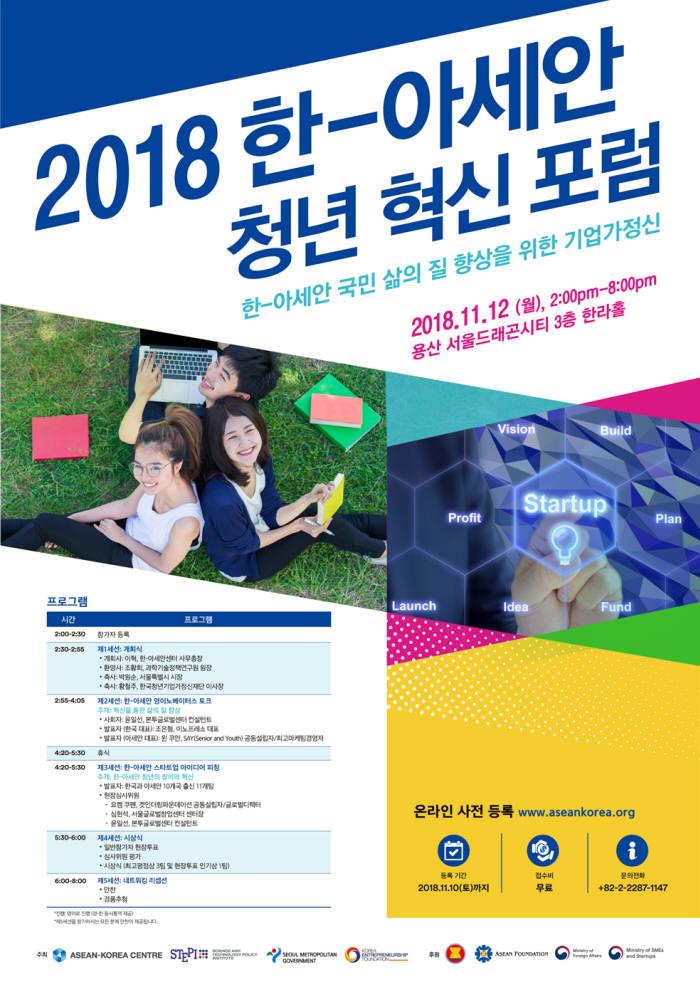 2018 한-아세안 청년 혁신 포럼 포스터