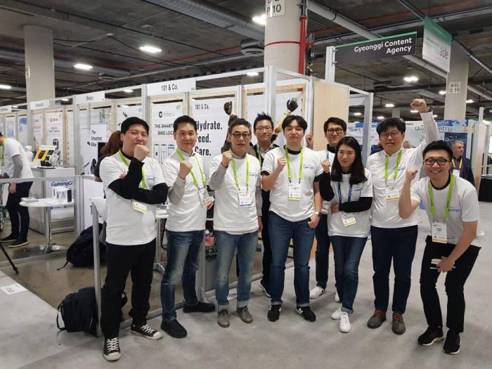 CES 2019 유레카파크에 참여한 경기도 스타트업들.