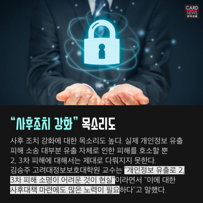 [카드뉴스]개인정보 유출 피해, 한 번으로 끝?