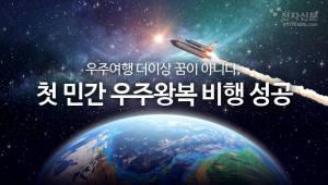 우주여행 더이상 꿈이 아니다, 첫 민간 우주왕복 비행 성공