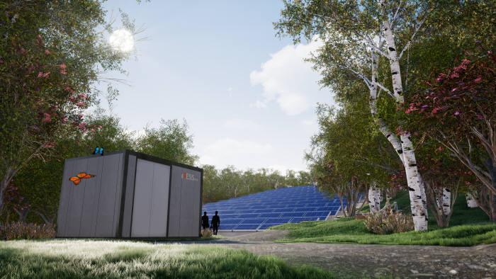 비에이에너지가 양산에 들어간 ESS에너지홈이 설치된 조감도.