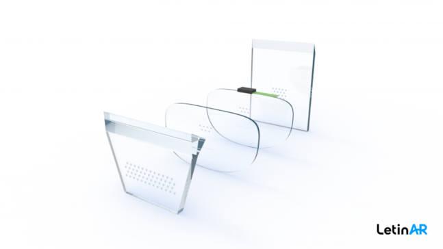 레티널이 개발하는 스마트글래스용 AR 핀렌즈. 레티널 제공