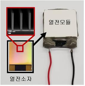 백창기 포스텍 교수가 개발한 실리콘 나노선 열전소자와 열전모듈