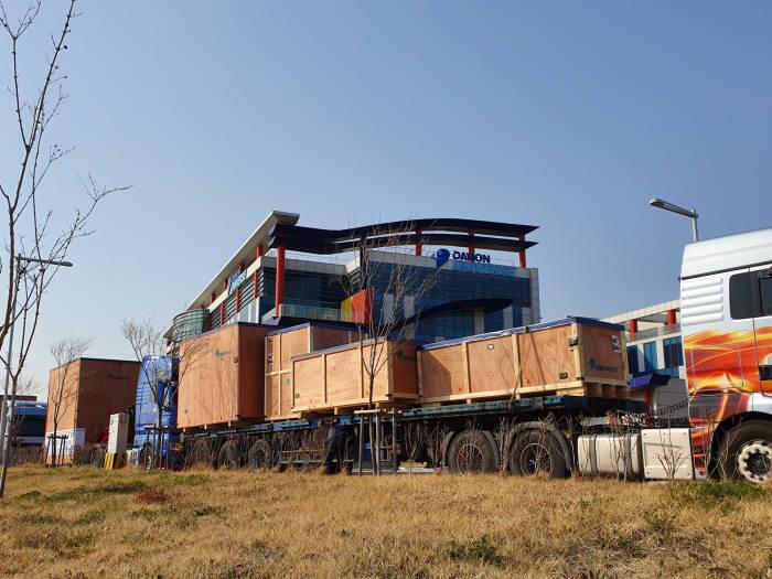 ITER 건설현장인 프랑스로 운송을 시작한 VS-1 컨버터