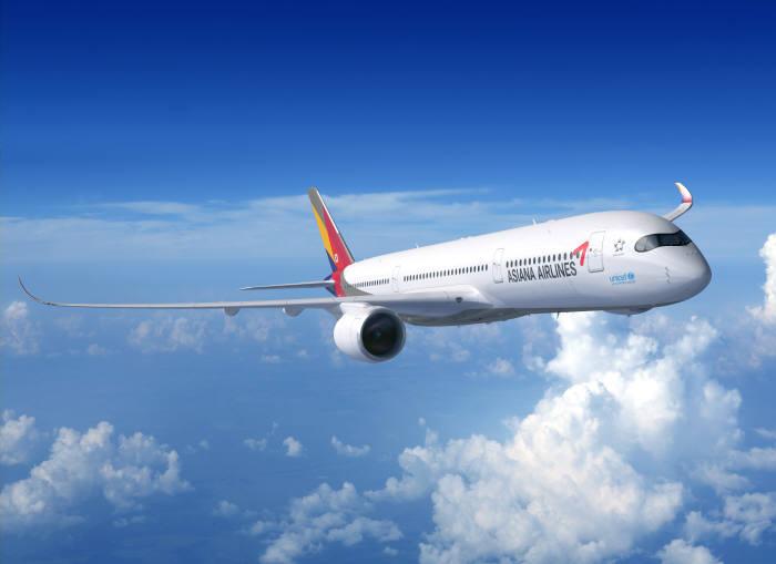 아시아나항공 A350-900 항공기 (제공=아시아나항공)