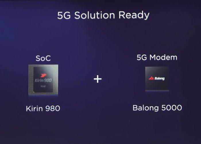 화웨이 5G 칩셋 솔루션 기린980과 바롱5000