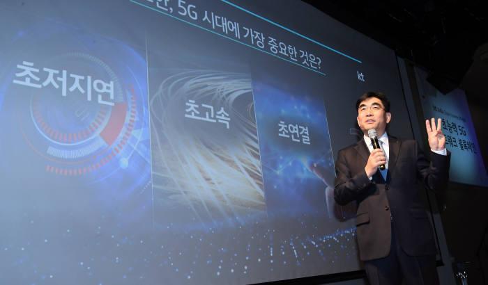 """이동면 KT 사장 """" 5G 시대 가장 안전한 네트워크 구축"""""""