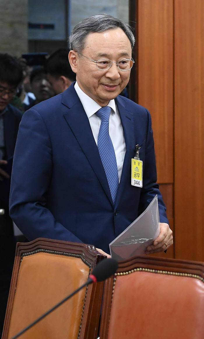 아현지사 화재 국회 청문회 출석한 황창규