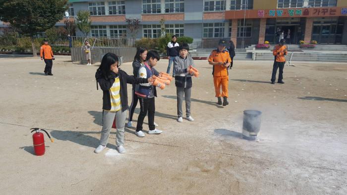 불로초등학교 합동 소방훈련에 사용된 스마트 소화기
