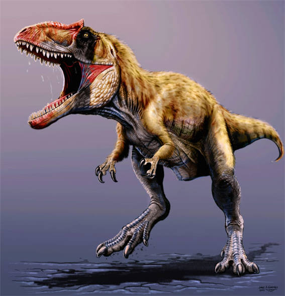 사진 2. 약 9600만 년 전 북아메리카 대륙에서 가장 큰 육식공룡 시아츠(Siats). (출처: http://www.sci-news.com)