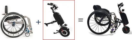 알에스케어 서비스 수동식 휠체어 전동보조키트