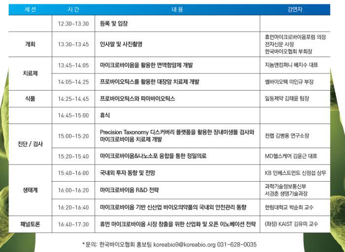 제3회 휴먼마이크로바이옴 콘퍼런스