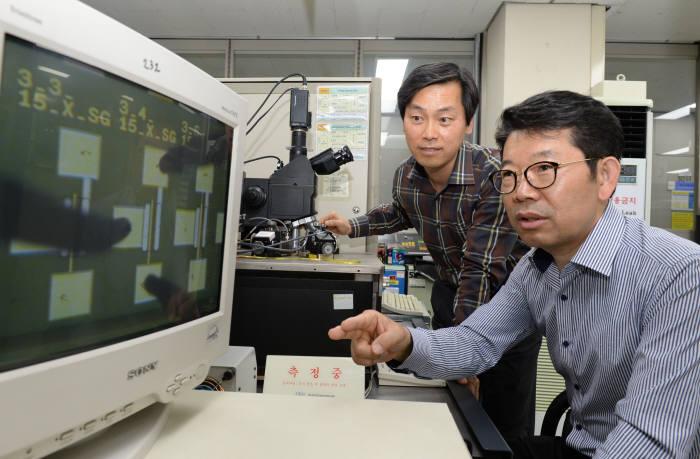 모스펫을 개발한 ETRI 연구진 모습 사진 왼쪽부터 장우진 박사, 문재경 박사