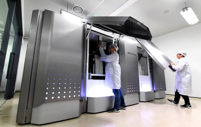 현대모비스 충주공장 내 운영 중인 수소비상발전시스템.