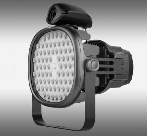 테크엔이 개발한 CCTV가 내장된 투광등.