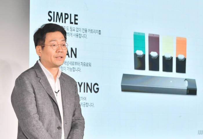 이승재 쥴 랩스코리아 유한회사 대표이사가 22일 서울 성수동 어반소스에서 열린 기자간담회를 통해 국내 시장에 공식 진출했다.
