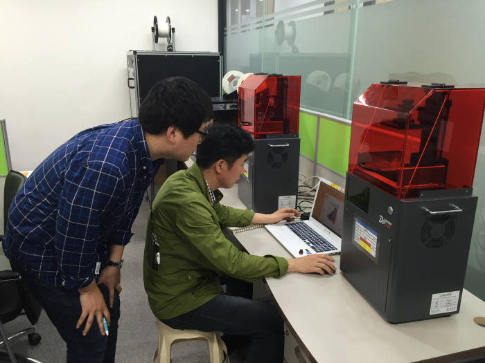 3D프린팅 출력세팅 장면