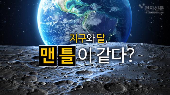[모션그래픽]지구와 달, 맨틀이 같다?