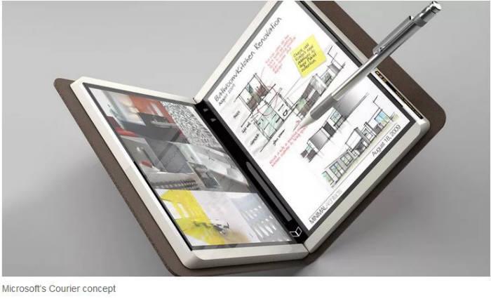 MS, 듀얼 스크린 태블릿PC 사내서 공개