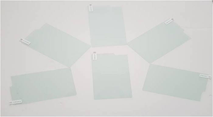 코세스지티가 개발한 폴더블폰 액정보호용 강화유리. 사진출처=코세스지티