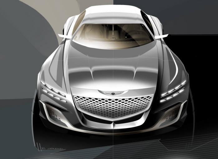 제네시스 GV80 콘셉트 모델 외관 렌더링 이미지.