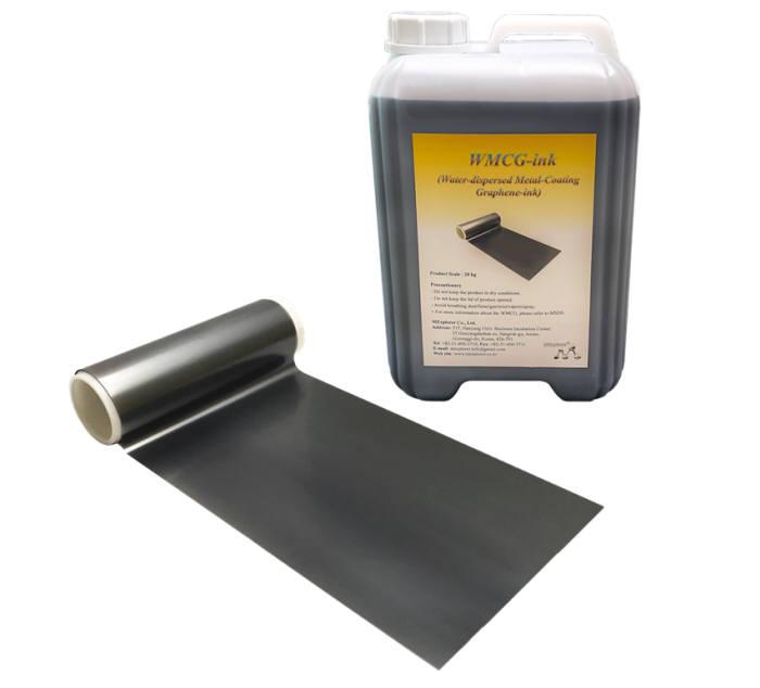 멕스플로러가 출시한 WMCG 잉크 제품과 이를 사용해 코팅된 리튬이온배터리 상용 알루미늄박 시제품. (사진=멕스플로러)