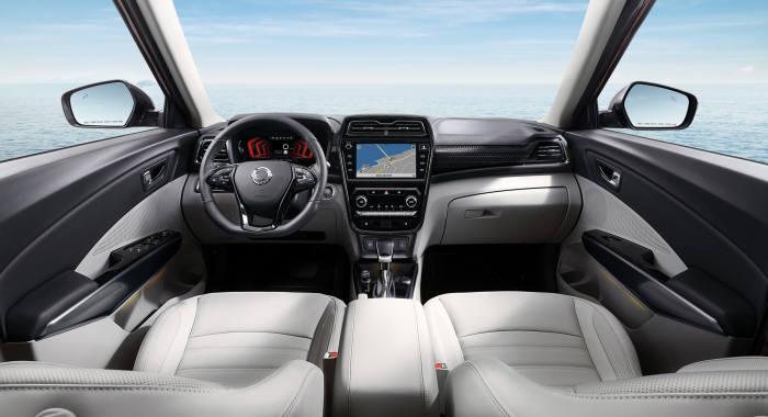 쌍용자동차 소형 SUV 베리 뉴 티볼리 실내 디자인(제공=쌍용자동차)
