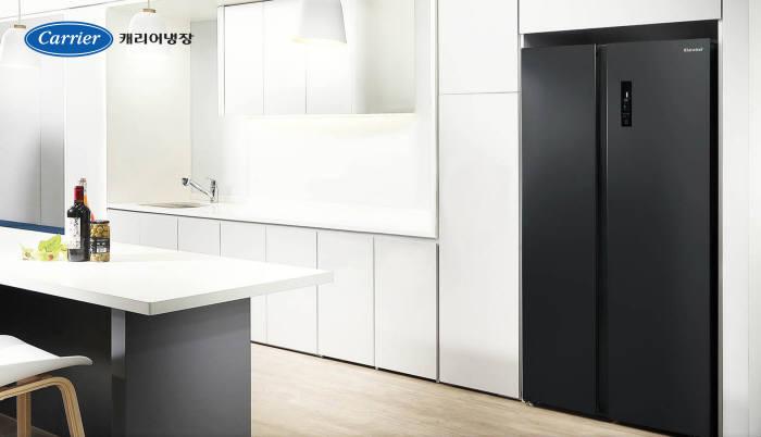 캐리어냉장이 지난 24일 출시한 캐리어 클라윈드 피트인 냉장고(2도어).