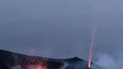 '지중해의 등대' 이탈리아 스트롬볼리섬 화산 분화