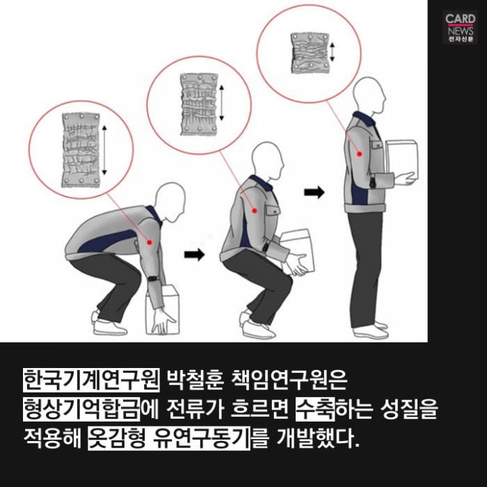 [카드뉴스]힘세지는 옷…입기만 해도 10㎏ 번쩍