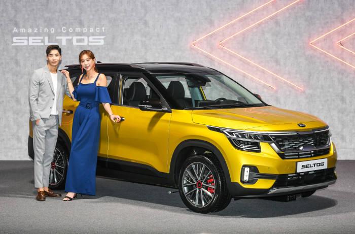 기아차가 18일 소형 SUV 셀토스를 출시했다.