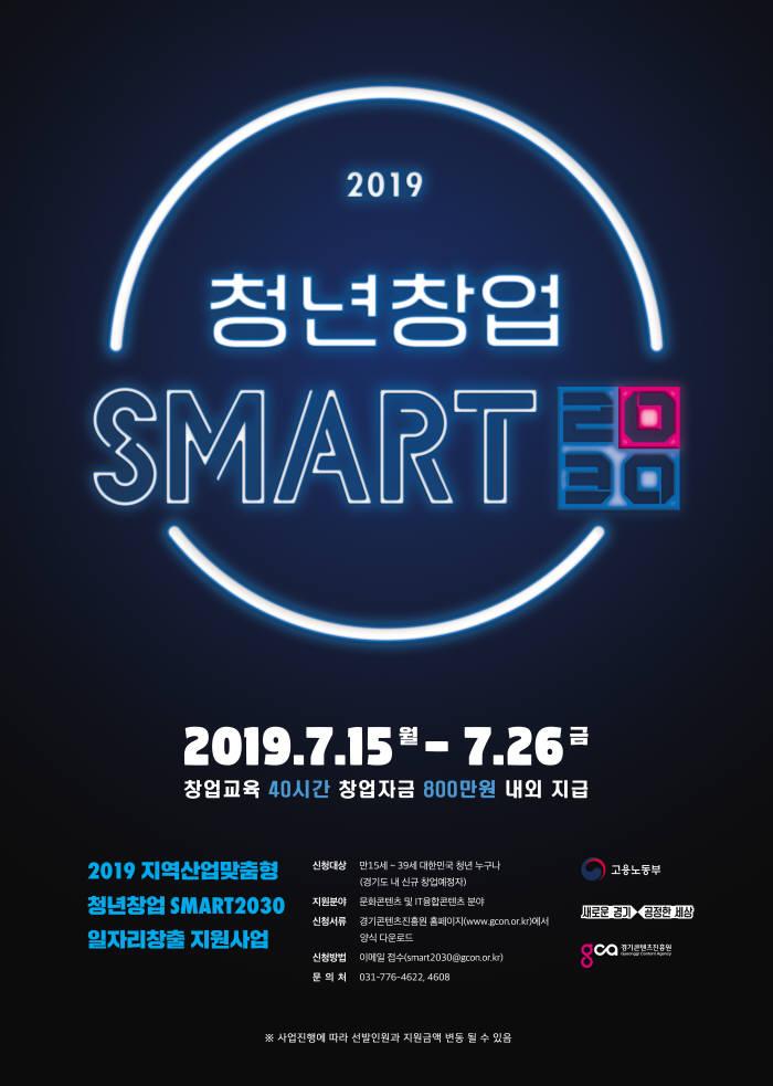 청년창업 SMART2030 2차 모집 포스터.