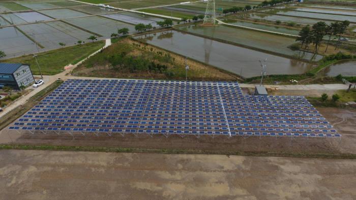 영농형 태양광 발전소.