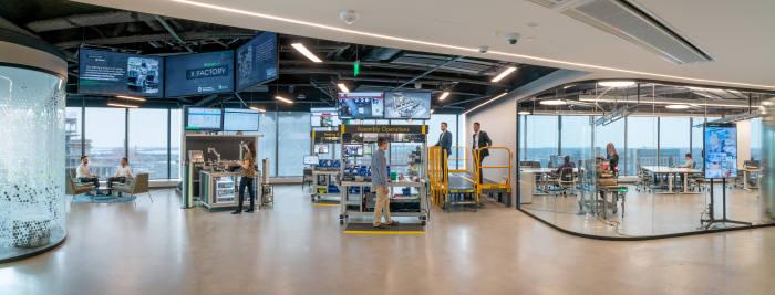PTC 리얼리티 랩은 산업현장의 AR과 IoT 효과를 체험할 수 있다.