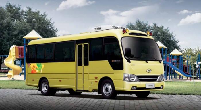 현대차 카운티 어린이버스.